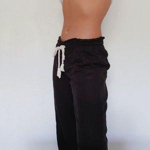 Black Cotton Beach Pants by Roxy